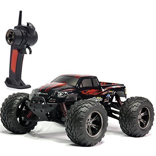 TOZO C2032 RC CARS High Speed 30MPH 1/12 Scale RTR Remote control Brushed Monster Truck Off road Car Big Foot RC 2WD ELECTRIC POWER BUGGY W/2.4G Challenger Red (Monster Trucks Rc compare prices)