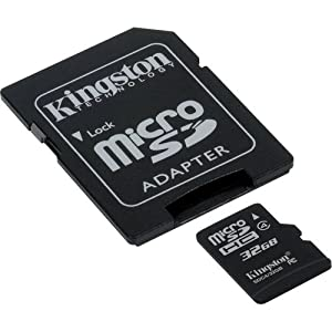 Samsung Galaxy S3 Cell Phone Memory Card 32GB microSDHC Memory Card with SD Adapter from Kingston