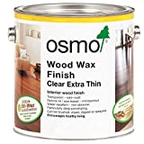 Osmo Wood Wax Finish Extra Thin - 1101 Clear - .75 Liter (Color: Clear, Tamaño: .75 Liter)