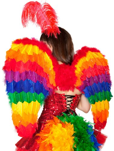 [Rainbow Wings Costume Accessory] (Parrot Costume Wings)