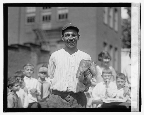 Photo Max Schwartz, winner of pie eating contest, Jefferson school, 8/2/23