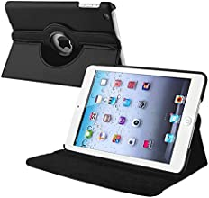 eForCity 360-Degree Swivel Leather Case for Apple iPad mini, Black (PAPPIPDMLC19)