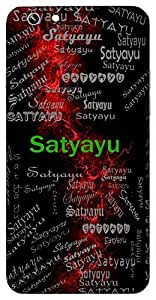 Satyayu (It?S A Truthful And Pious Life) Name & Sign Printed All over customize & Personalized!! Protective back cover for your Smart Phone : Moto G3 ( 3rd Gen )