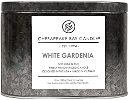 Chesapeake Bay Candle Heritage Collection Double Wick Tin Candle, White Gardenia