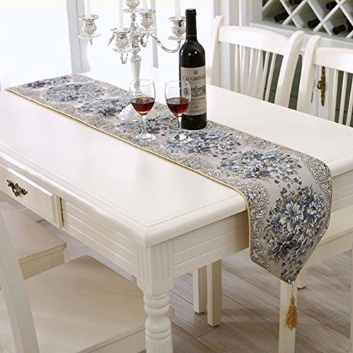 Milesky Embroidery Dining Table Runner Classic European Style