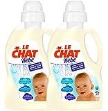 Le Chat Bébé Lessive Liquide 1,5 L / 25 Lavages - Lot de 2