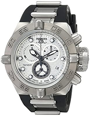 "Invicta Men's 16143SYB ""Subaqua"" Stainless Steel Watch with Black Polyurethane Band"