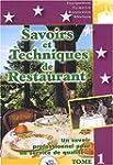 Savoirs et Techniques de restaurant,...