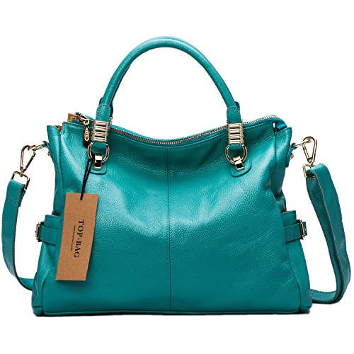 TOP-BAG Exquisite Women Ladies' Genuine Leather Tote Satchel Shoulder Handbag, SF0951