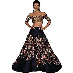 Astha bridal women new design kurti (6 color lehenga _blue colour_42)