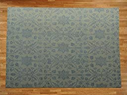 8 x 10 HAND KNOTTED TONE ON TONE MODERN TRANSITIONAL DESIGN ORIENTAL RUG G19322