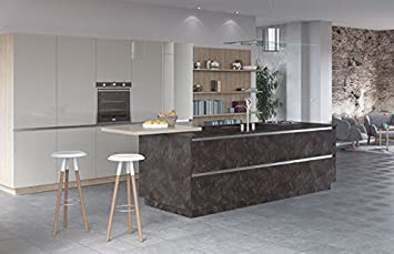Egger Premium Ceramic Anthracite Effect Kitchen Bathroom Laminate Worktop Offcut Work Surface 25mm Breakfast Bar - 2m x 920mm x 25mm Breakfast Bar