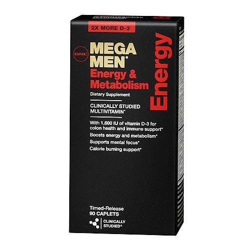 GNC MEGA MEN Energy & Metabolism 90 Caplets Multivitamin