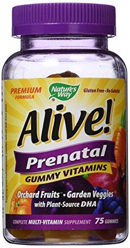 Nature's Way Alive Prenatal 75 Gummy Vitamins