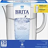 Brita 10 Cup Everyday BPA Free Water Pitcher with 1 Filter, White