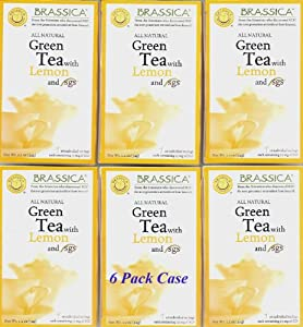 Brassica® Green W/Lemon Tea W/sgs~ 6 Boxes (96 Tea Bags) from Baltimore Coffee®