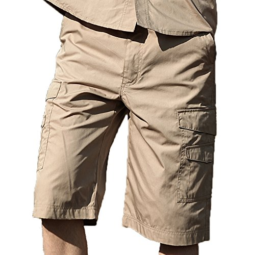 "Seibertron Men's Light Weight Tactical M65 BDU Shorts Waterproof/Water Repellent Military Army Infantry Utility Cargo Shorts (36""- 37"" waist, Khaki)"