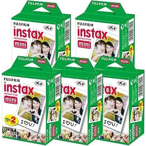 체키 필름 후지필름/FUJIFILM 즉석 카메라  instax mini 인스탁스 미니 2P×5 합계100 매세트-415-046