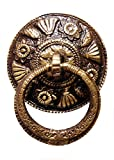 Unique Vintage Design Carving Kada Door Knocker - Full Brass