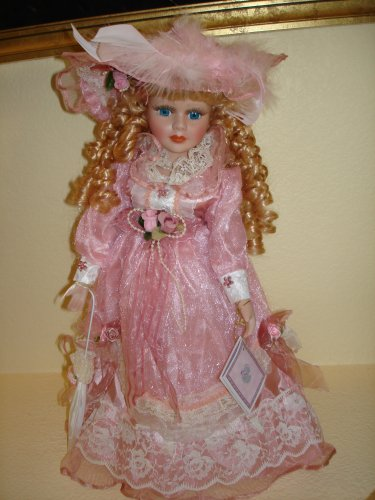 Porcelain Doll in Pink Dress on Stand - Buy Porcelain Doll in Pink Dress on Stand - Purchase Porcelain Doll in Pink Dress on Stand (Kinnex, Toys & Games,Categories,Dolls,Porcelain Dolls)