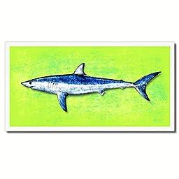 Shark Fish Art 14171 Custom Picture Frame Wall Home Decor Nautical Beach Fisherman Shabby Chic Gift Ideas - Green 20\