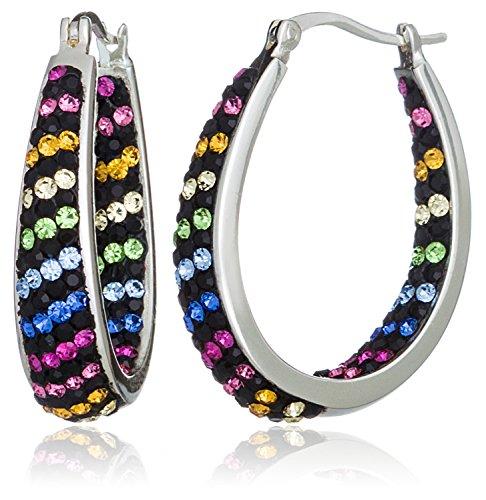 carly-creations-mujer-chapado-en-plata-multi-crystal-rayas-aro-pendientes