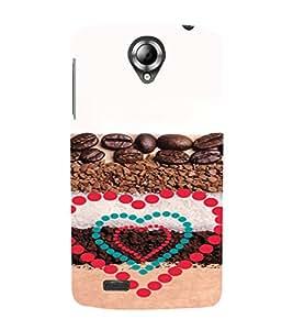 PrintVisa Coffee Love Design 3D Hard Polycarbonate Designer Back Case Cover for Lenovo S820