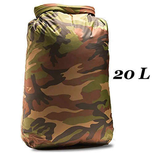 Aqua Quest Rogue 100% Waterproof Dry Bag - Camo - 10L, 20L, 30L or 3-Piece Set (20L) (Aqua Quest 20l compare prices)