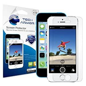 Tech Armor Apple iPhone 5/5c/5s High Defintion (HD) Clear Screen Protectors -- Maximum Clarity and Touchscreen Accuracy [3Pack] Lifetime Warranty