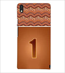 PrintDhaba Numerology Number 1 D-3633 Back Case Cover for HUAWEI ASCEND P6 (Multi-Coloured)