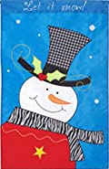 Fashion Snowman Winter Garden Flag Applique 12.5