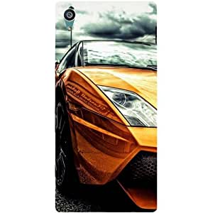 Casotec Street Lamborghini Design Hard Back Case Cover for Sony Xperia Z5 Dual