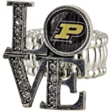 NCAA Purdue Boilermakers Womens Love Stretchy Ring at Amazon.com