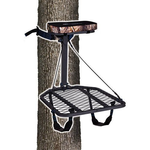 Portable Hang-On Tree Stand Ap Seat Cushion Backpack Straps 300Lbs Capacity front-960238