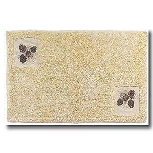Amazon Com Pinecone Rustic Lodge Bathroom Mat Bathmat
