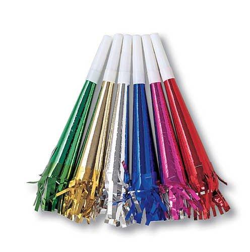 Creative Converting 020043 Metallic Horns W/Fringe Ast Colors (12pks Case)