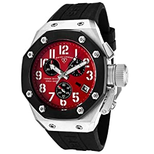 Mens 10541-05-BB Trimix Diver Collection Chronograph Black Rubber Watch