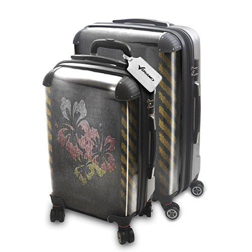 Drapeau de la Paix Allemagne, 2 pièce Set Luggage Bagage Trolley de Voyage Rigide 360 degree 4 Roues Valise avec Echangeable Design Coloré. Grandeur: Adapté à la Cabine S, L