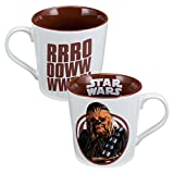 Vandor-99163-Star-Wars-Chewbacca-12-Ounce-Ceramic-Mug-WhiteBrown