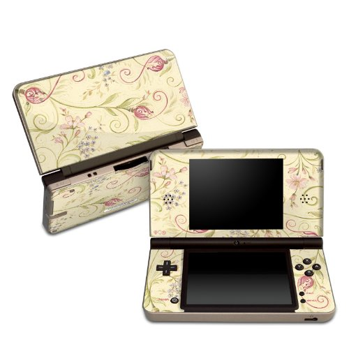 Tulip Scroll Design Protective Decal Skin Sticker for Nintendo DSi XL Game Device