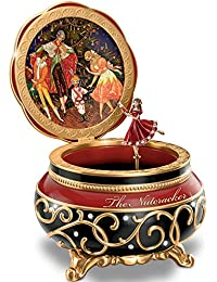 Clara And The Nutcracker Heirloom Porcelain Music Box With Russian Style Art By The Bradford Exchange By Bradford...