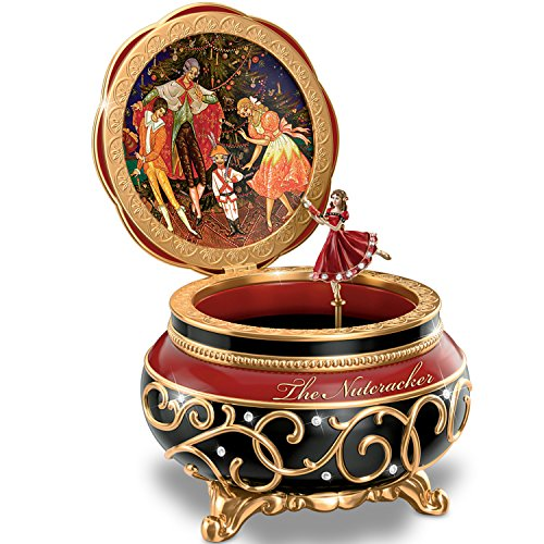Clara And The Nutcracker Heirloom Porcelain Music Box with Russian Style Art by The Bradford Exchange 0