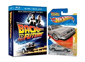 Back to the Future: 25th Anniversary Trilogy (with Hot Wheels Back to the Future Time Machine) [Blu-ray]