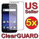 5x Samsung Galaxy S II Skyrocket SGH-i727 Premium Clear LCD Screen Protector ...
