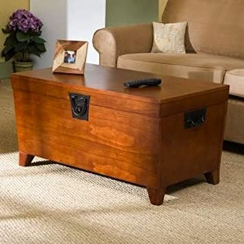 Trunk Coffee Table with Lift-top - Tables Convenience Concepts Set Living Room Office Furniture - Sale!