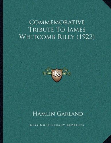 Commemorative Tribute to James Whitcomb Riley (1922)