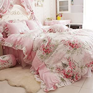 Amazon.com - DIAIDI Home Textile, Romantic Rose Print Bedding Sets