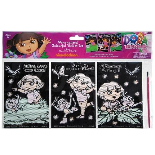 Dora the Explorer Water Color Velvet Art - 1