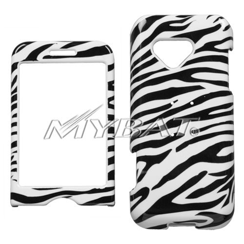 HTC MYTOUCH SLIDE BLACK AND WHITE ZEBRA PRINT DESIGN HARD CASE COVER