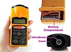 Diswa Hero's Ultrasonic Distance Measure Meter Laser Pointer 60 Ft / 18 Mt With LCD Display